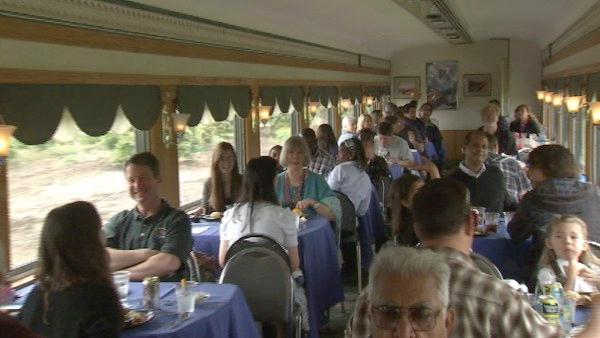 The passenger coach cars and dining cars are from the 1930s and 1940s, truly a step back in time for all who venture onboard.