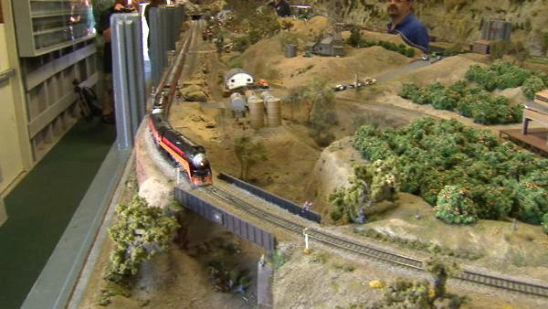 Built in 1903, the Santa Susana Railroad Depot has been fully restored and is now the home to an extensive model train exhibit.