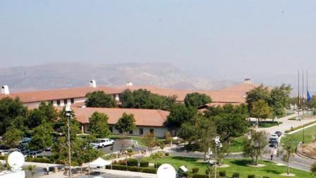 The Ronald Reagan Presidential Library and Museum is seen in this undated photo.