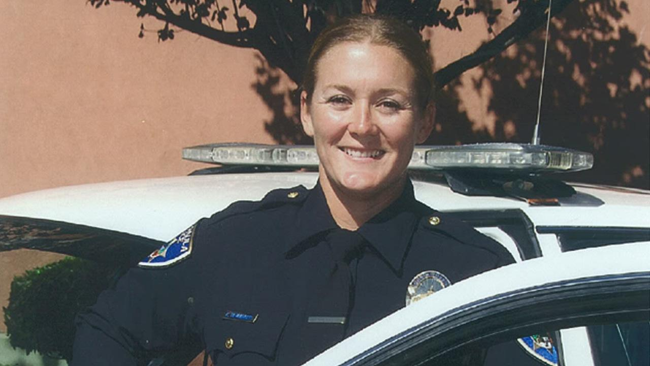 Santa Paula Police Officer Kimberly Hemminger, seen in this photo provided by the police department, was killed in a single-vehicle accident on Sunday, July 22, 2012.
