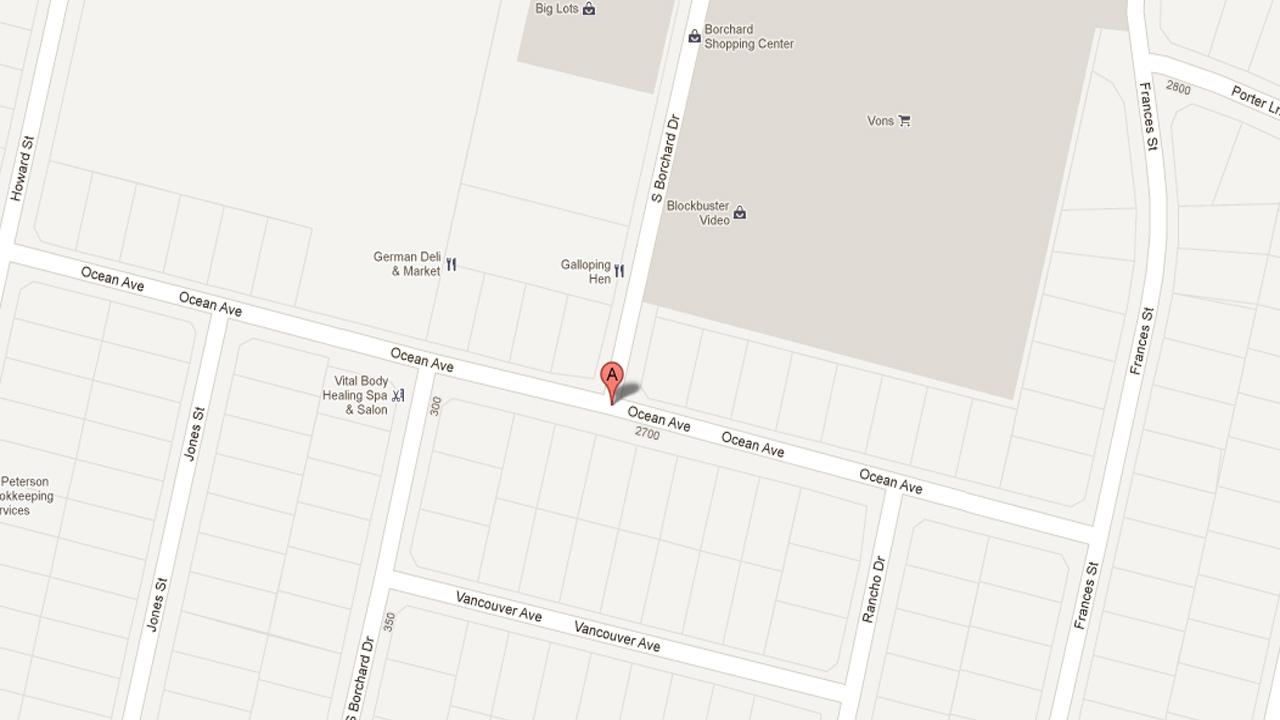A map shows the area near Borchard Drive and Ocean Avenue in Ventura where the Ventura Police Department arrested Cameron Zieglar and Charles Batchley for theft, conspiracy to commit theft, and possession of stolen property Saturday Oct. 6, 2012.