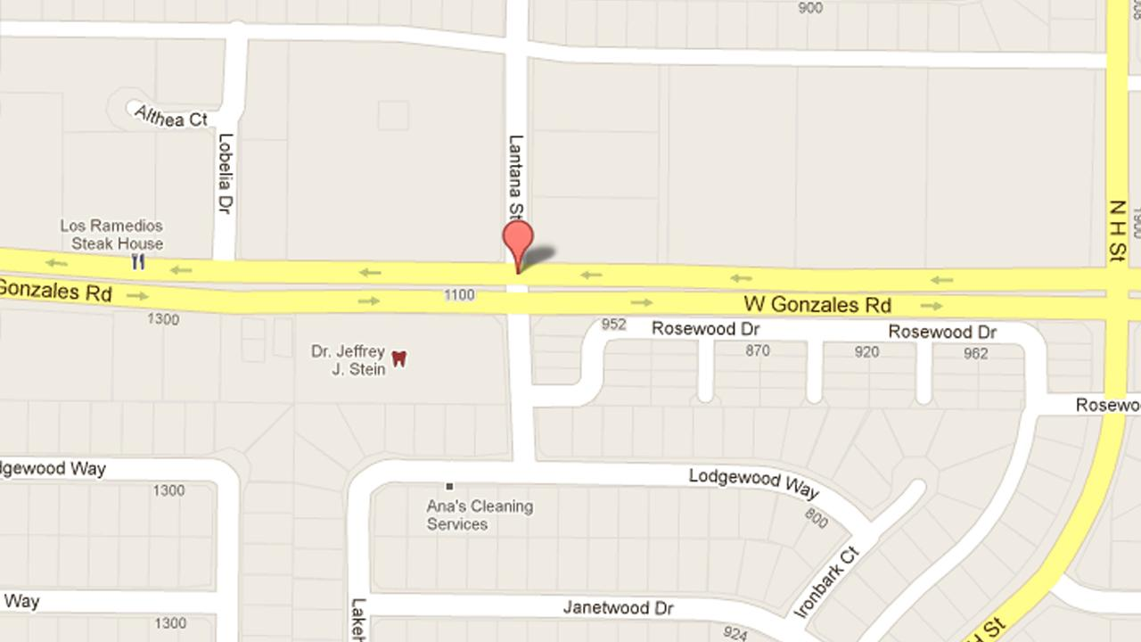 A map indicates the location of a stabbing attack near the intersection of Gonzales Road and Lantana Street in Oxnard on Sunday, Jan. 20, 2013.