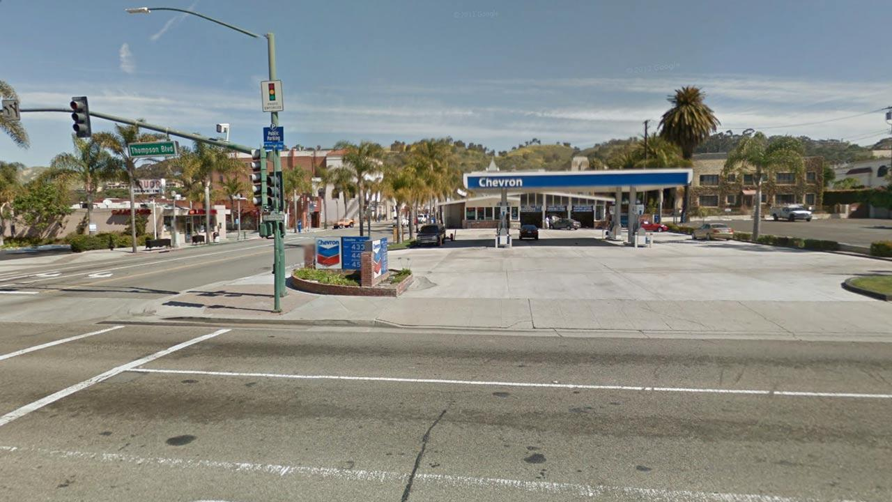Undated Google Map photo of California St./Thompson Blvd. intersection