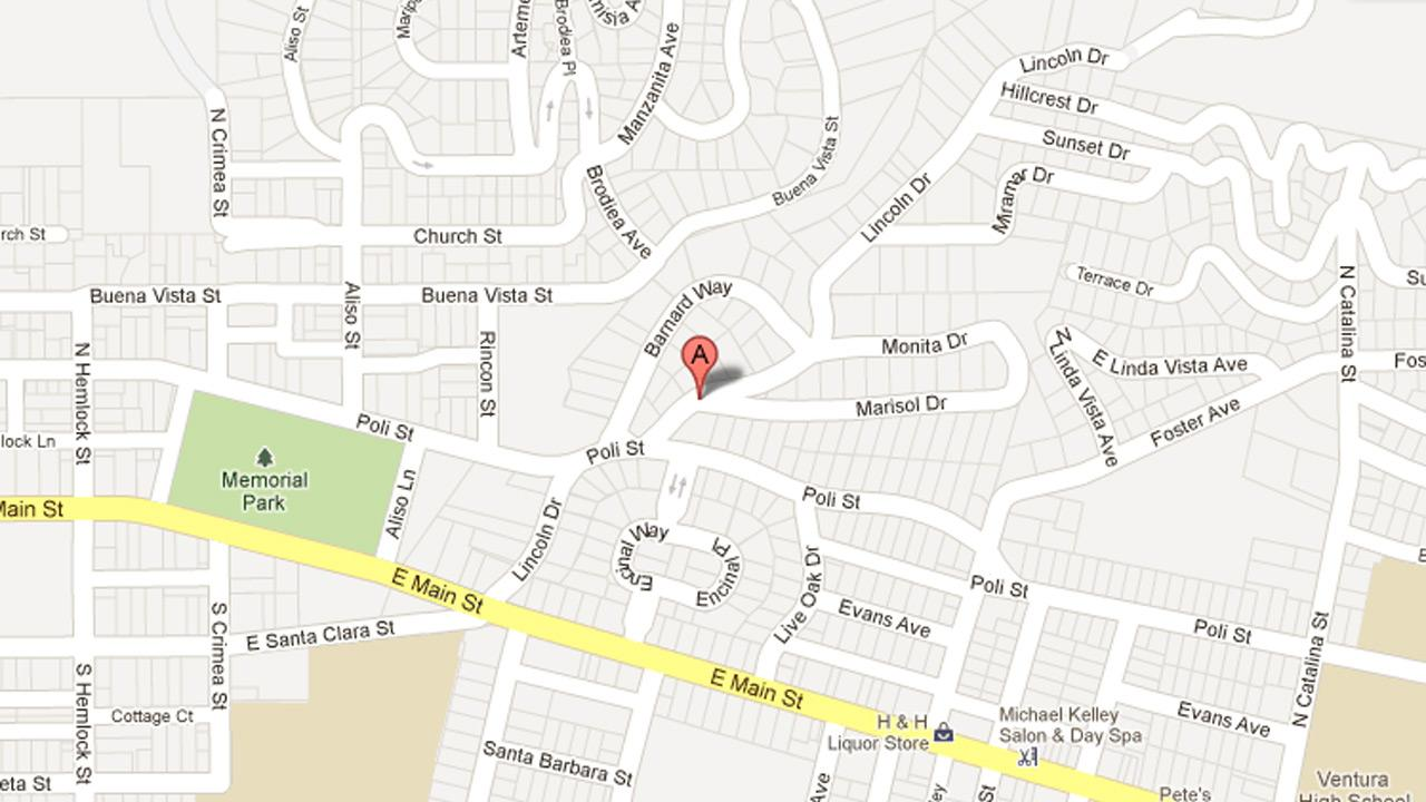 This Google Map photo shows the 200 block of Lincoln Drive in Ventura, where police say a hot prowl burglary took place.