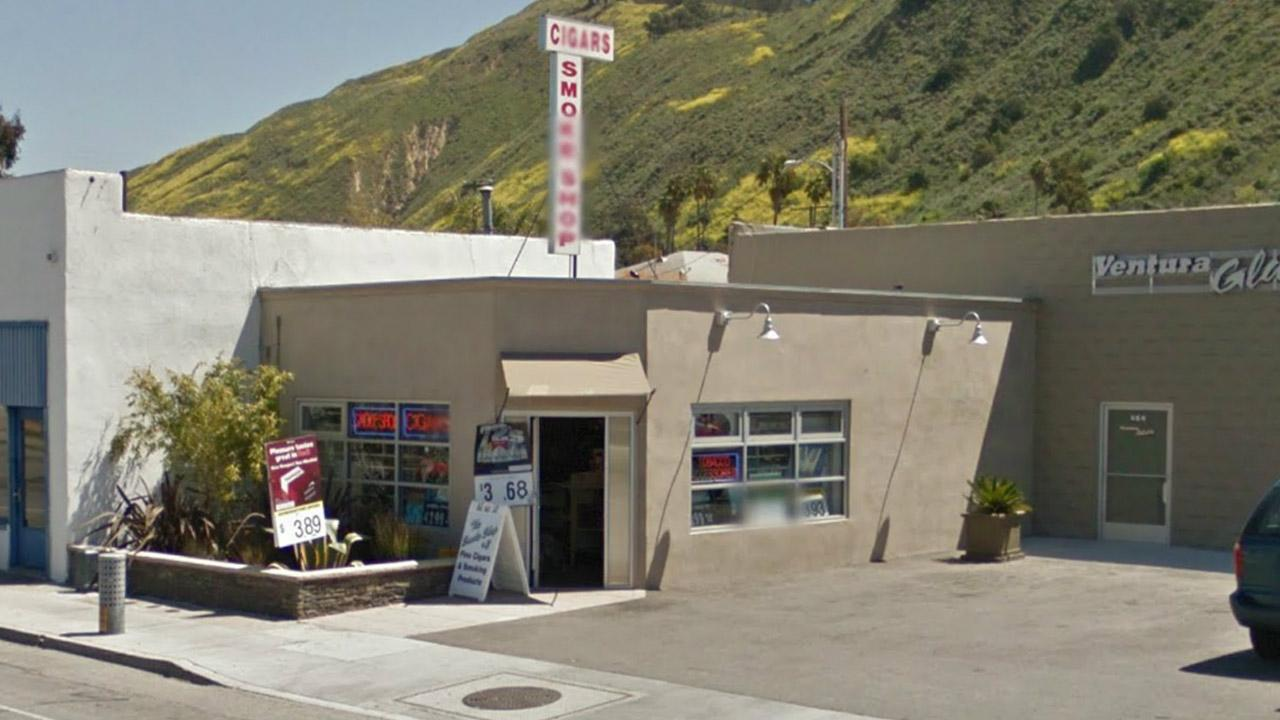 This Google Maps image shows the Smoke Shop Plus in Ventura.