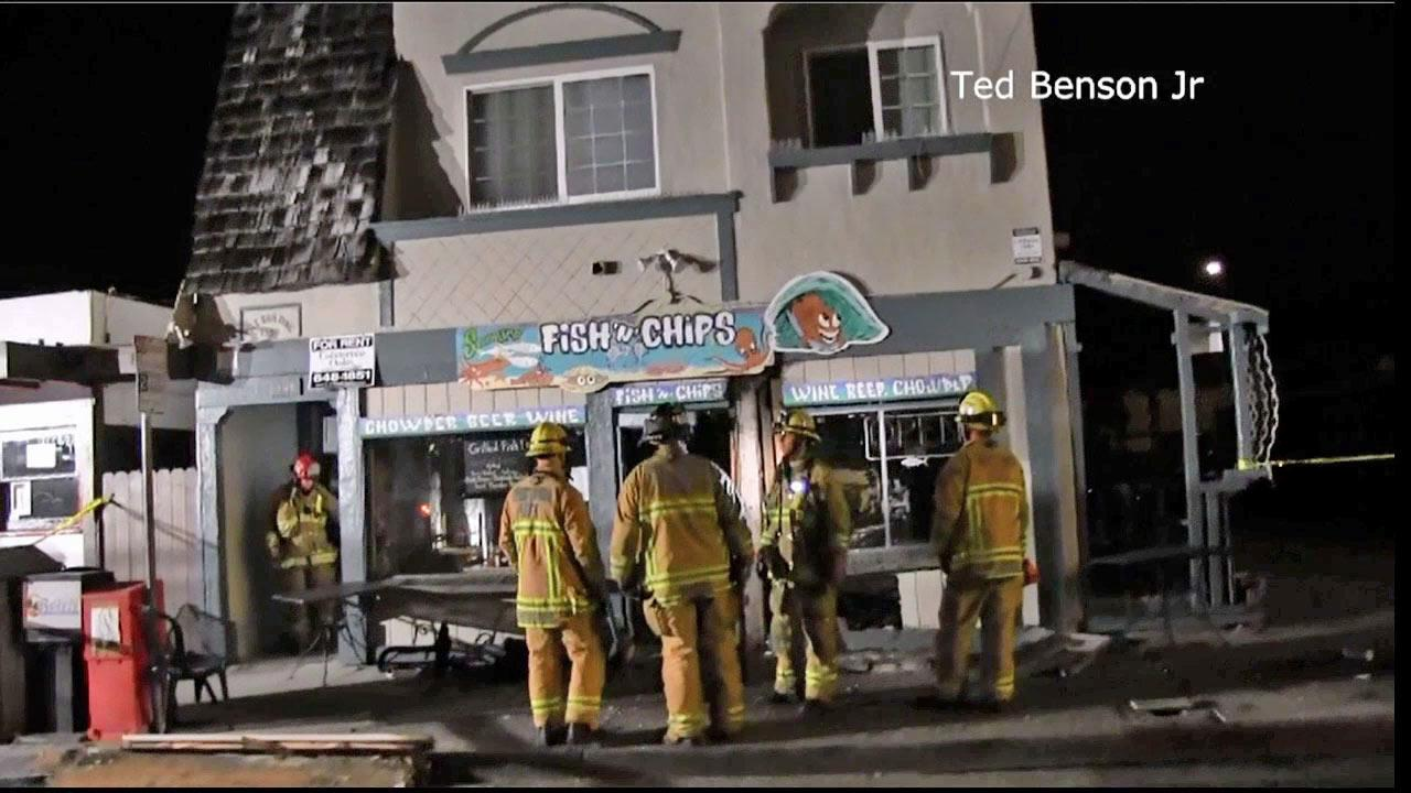 Police are searching for a hit-and-run driver who slammed into a Ventura building on the 1100 block of Seaward Avenue on Tuesday, March 19, 2013.