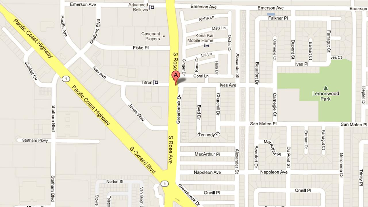 A map shows the 1800 block of Ives Avenue in Oxnard, where a man was stabbed during a fight Sunday, May 12, 2013.