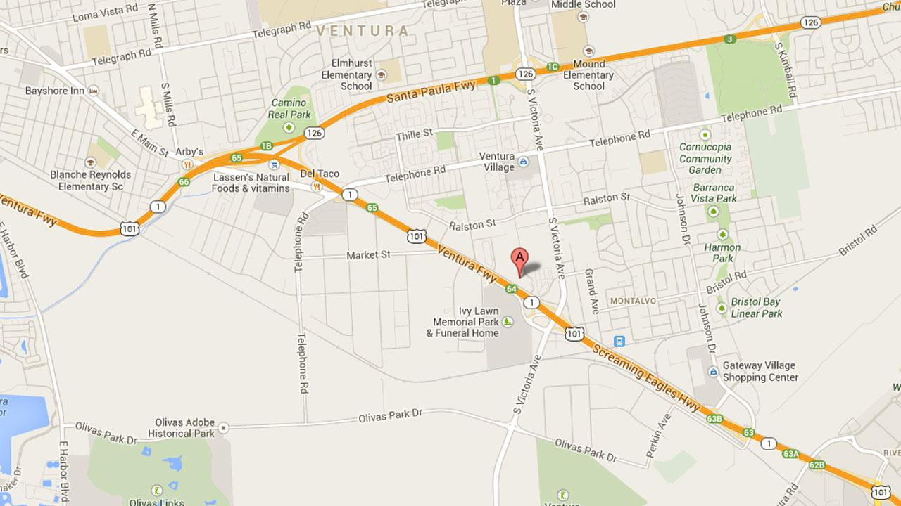This image from Google Maps shows the location of Golf N Stuff in Ventura.