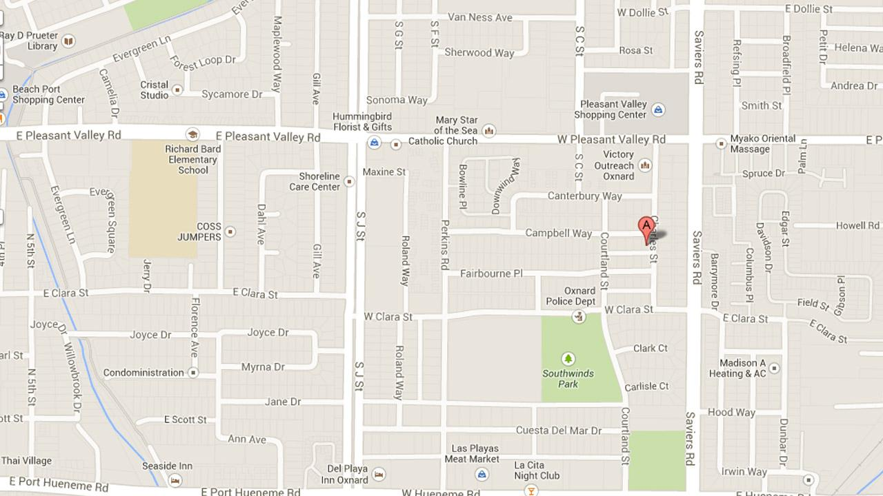 This image from Google Maps shows the location of a shooting in the 200 block of Campbell way in Oxnard on Tuesday, Oct. 22, 2013.