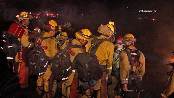 Simi Valley brush fire: Crews make progress