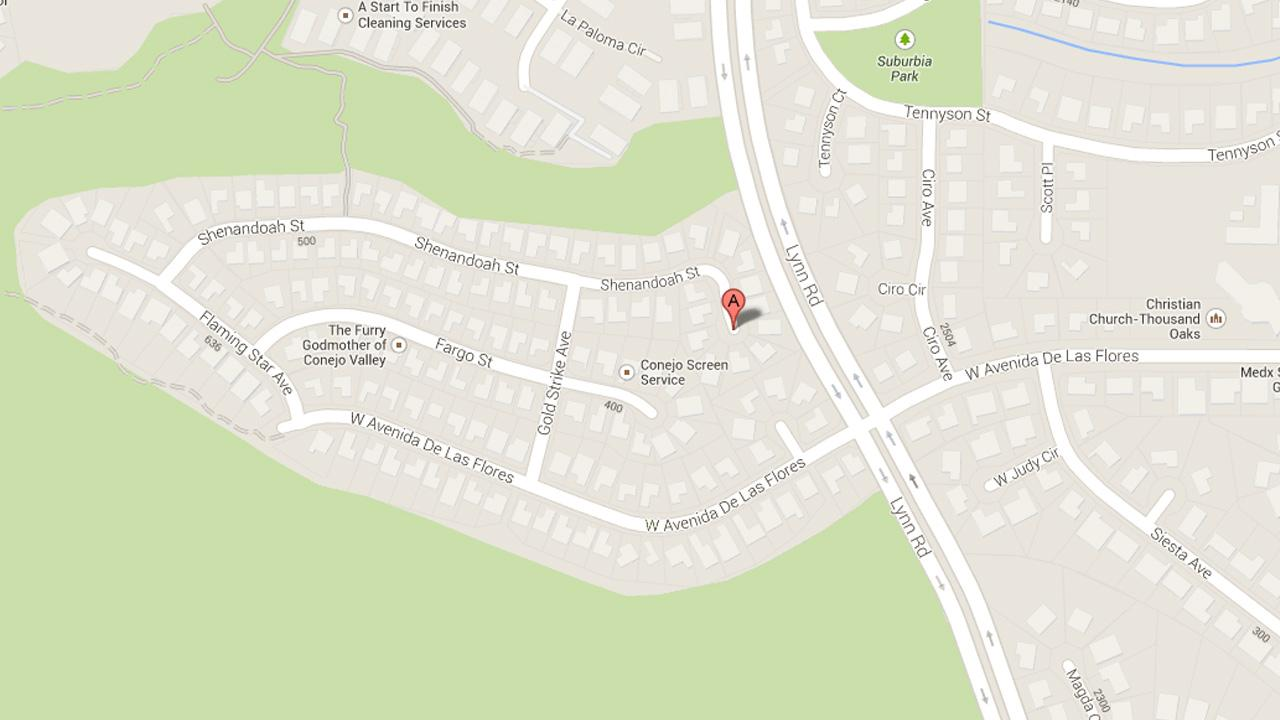 This Google Maps image shows the approximate location of a home-invasion robbery in Thousand Oaks on Thursday, Jan. 2, 2014.