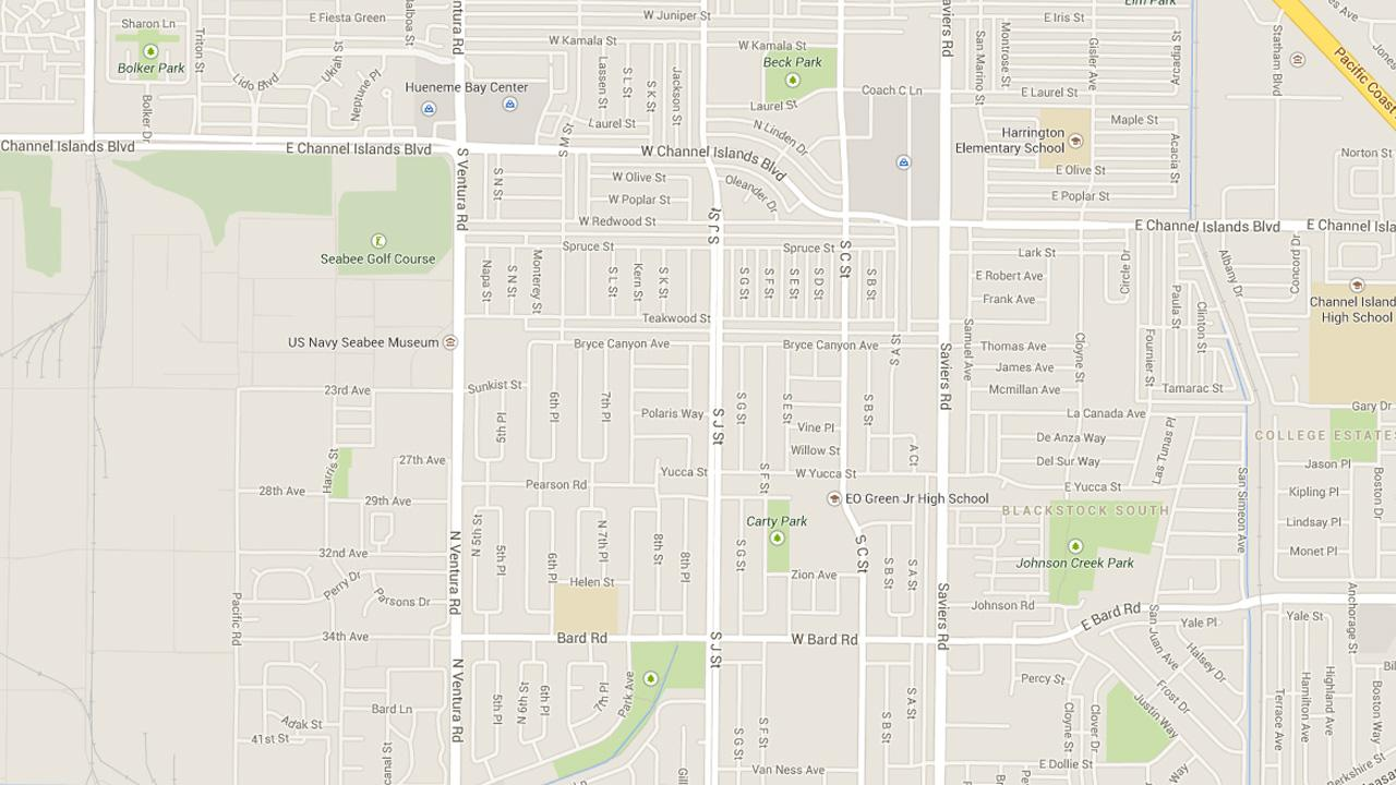 This Google Maps image shows the area where three robberies occurred in Oxnard on Monday, May 12, 2014.