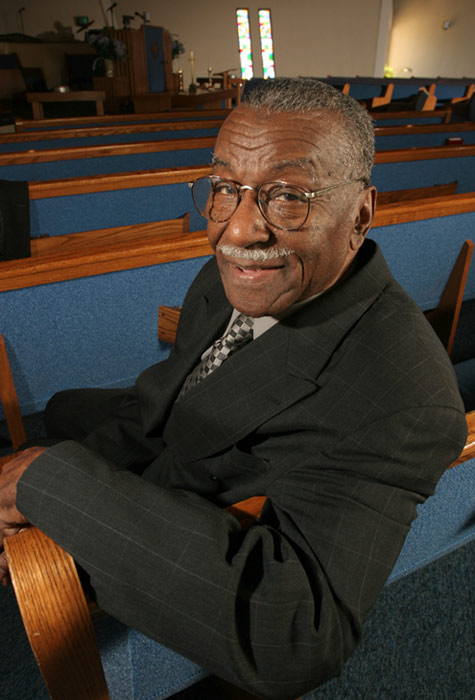 The Rev. Fred L. Shuttlesworth, who was bombed, beaten and repeatedly arrested in the fight for civil rights and hailed by the Rev. Martin Luther King Jr. for his courage and energy, died Wednesday, Oct. 5, 2011 at the age of 89.  &#40;Pictured: The Rev. Fred Shuttlesworth poses inside of the The Greater New Light Baptist Church Tuesday, March 14, 2006, in Cincinnati.&#41;  <span class=meta>(AP Photo&#47;Tom Uhlman)</span>