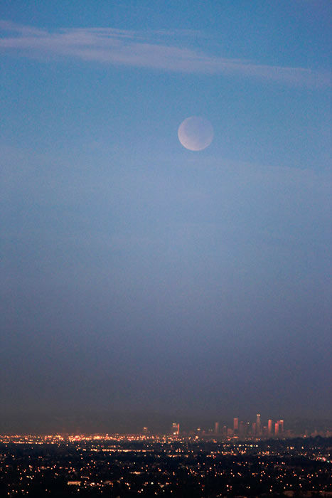 ABC7 viewer Simon Crask sent in this photo of a lunar eclipse over Anaheim, Calif. Dec. 10, 2011.