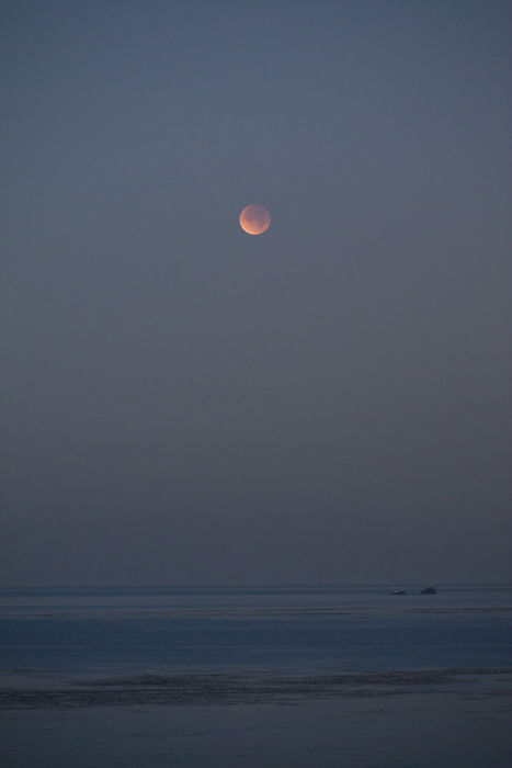 ABC7 viewer Robert Commag?re sent in this photo of a lunar eclipse over Laguna Beach, Calif. Dec. 10, 2011.  When You Witness breaking news, or even something extraordinary, send pictures and video to video@myabc7.com, or send them to @abc7 on Twitter <span class=meta>(KABC Photo&#47; Robert Commag?re)</span>