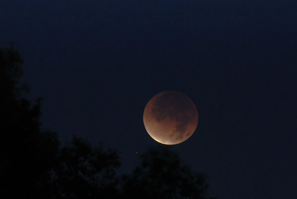 ABC7 viewer John Pearson sent in this photo of a lunar eclipse over Rancho Mirage, Calif. Dec. 10, 2011.  When You Witness breaking news, or even something extraordinary, send pictures and video to video@myabc7.com, or send them to @abc7 on Twitter <span class=meta>(KABC Photo&#47; John Pearson)</span>