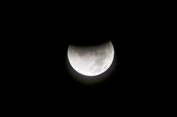 ABC7 viewer Elmer Barrero sent in this photo of a lunar eclipse over Santa Clarita, Calif. Dec. 10, 2011.  When You Witness breaking news, or even something extraordinary, send pictures and video to video@myabc7.com, or send them to @abc7 on Twitter <span class=meta>(KABC Photo&#47; Elmer Barrero)</span>