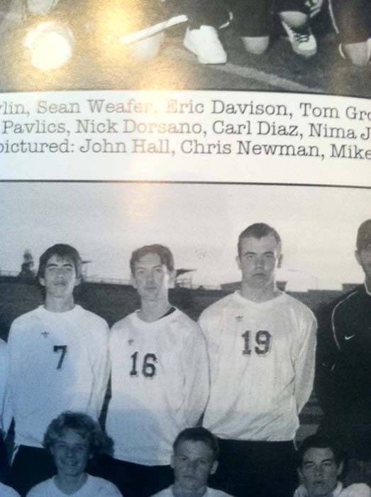 James Holmes, 24, is shown in this photo (wearing No. 16 jersey) from the Westview High School yearbook of 2004.