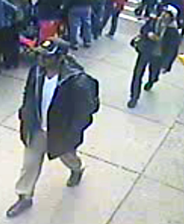 "<div class=""meta ""><span class=""caption-text "">This image from surveillance video released Thursday, April 18, 2013 by the FBI shows two suspects sought in connection with the Boston Marathon bombings that killed three people and injured more than 170 others. (FBI)</span></div>"