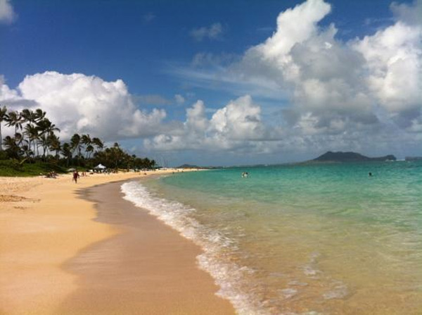 Hawaii ranked No. 1 in the Gallup Well-Being Index, which ranks the happiest states in America. The index considers such factors as health and work satisfaction. Hawaii's Well-Being index score was 71.1. Lanikai Beach in Kailua, Hawaii shown in photo.