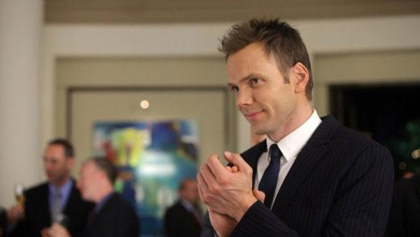 Joel Mchale in a production still for the Community episode The Psychology of Letting Go. - Provided courtesy of NBC Universal / Harper Smith
