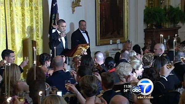 Obama honors Iraq war vets at WH dinner