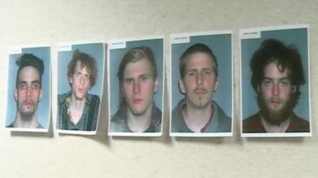 The FBI released photos of five men who allegedly plotted to blow up a bridge in Ohio, seen here.