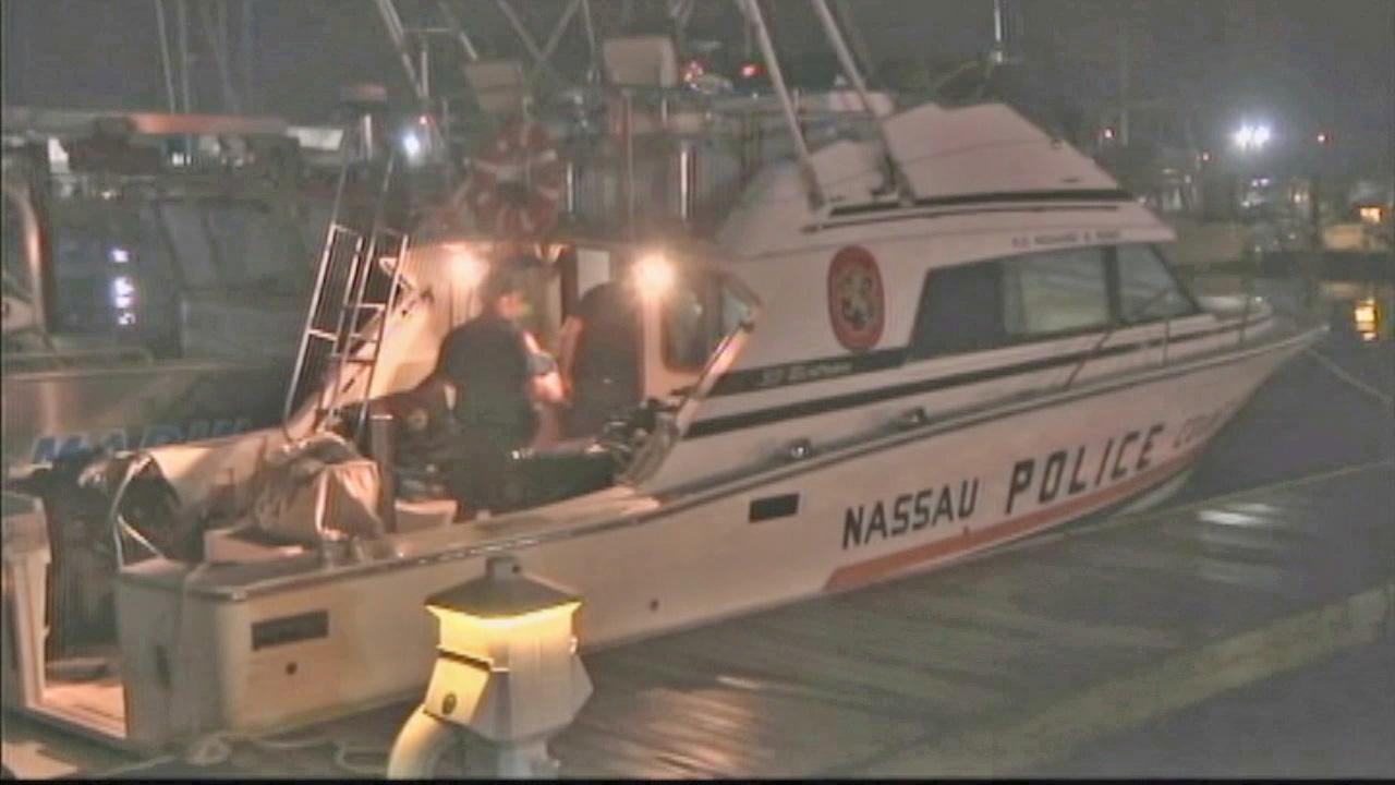 A Nassau County police boat is seen off New Yorks Long Island on Wednesday, July 4, 2012.