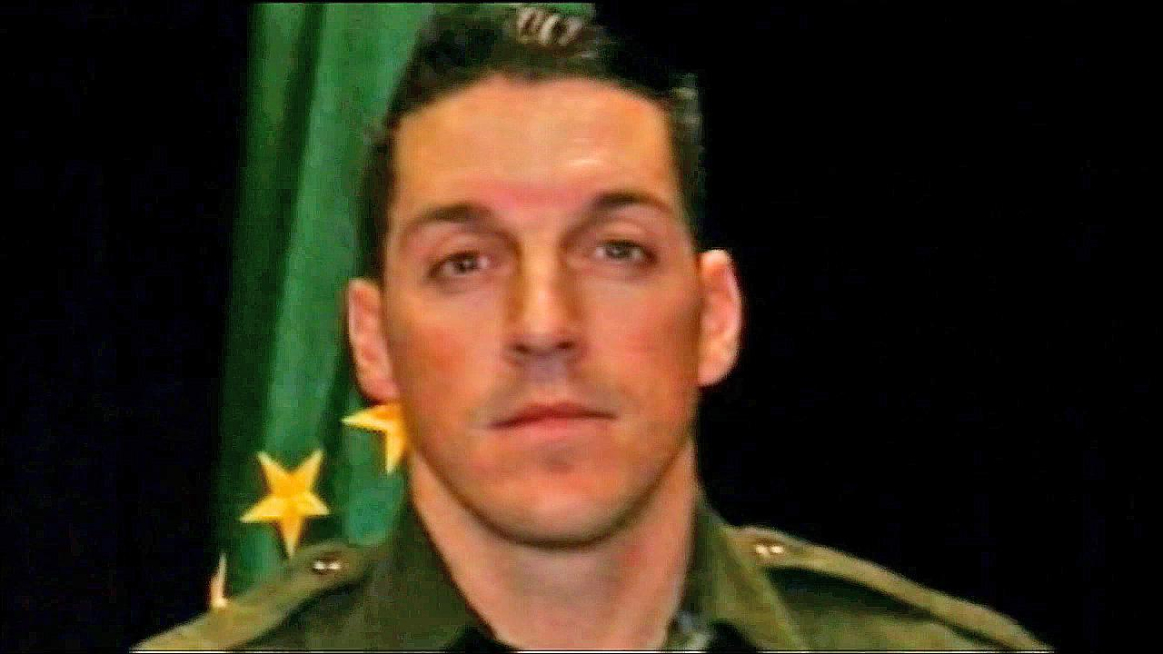 Border patrol agent Brian Terry is seen in this file photo. Terry was fatally shot in 2012 while on partol in Arizona.