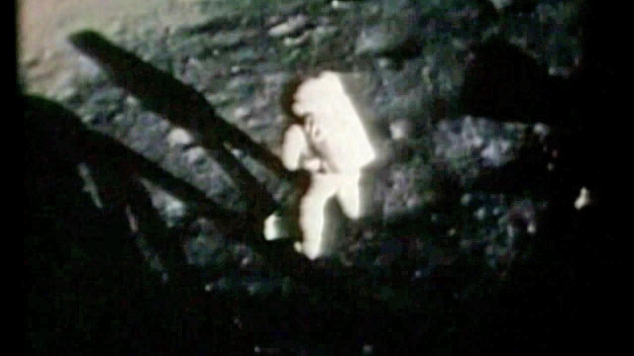 In a still from NASA footage, Neil Armstrong is seen on the moon July 20, 1969.