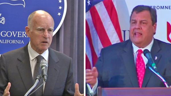 Jerry Brown v. Chris Christie: Govs face off