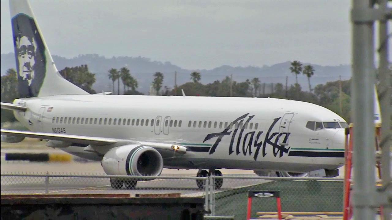 An Alaska Airlines plane is seen in this undated file photo.