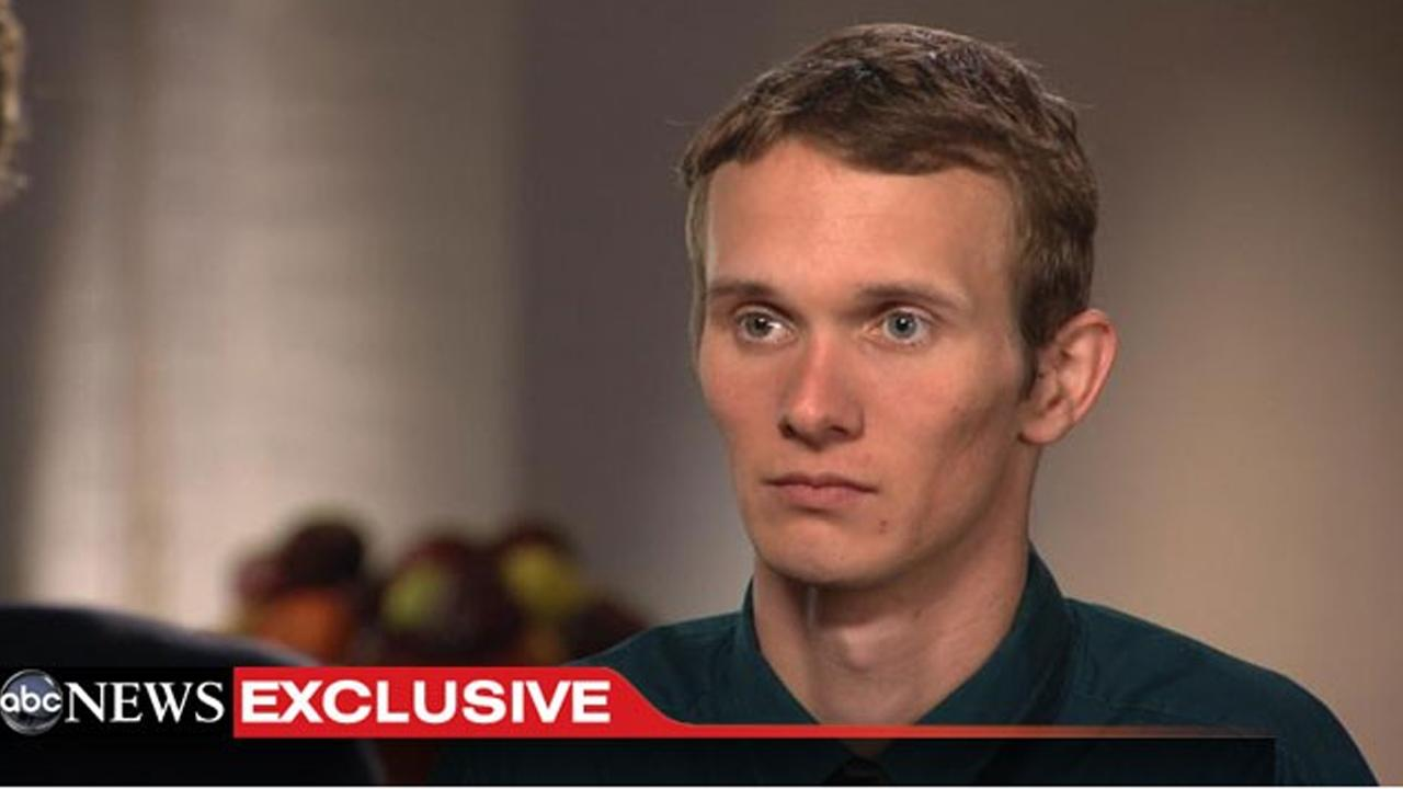 Aaron Fisher, Victim 1 in the Jerry Sandusky sex abuse case, speaks to ABCs Chris Cuomo in an interview that airs on 20/20 on Friday, Oct. 19, 2012.