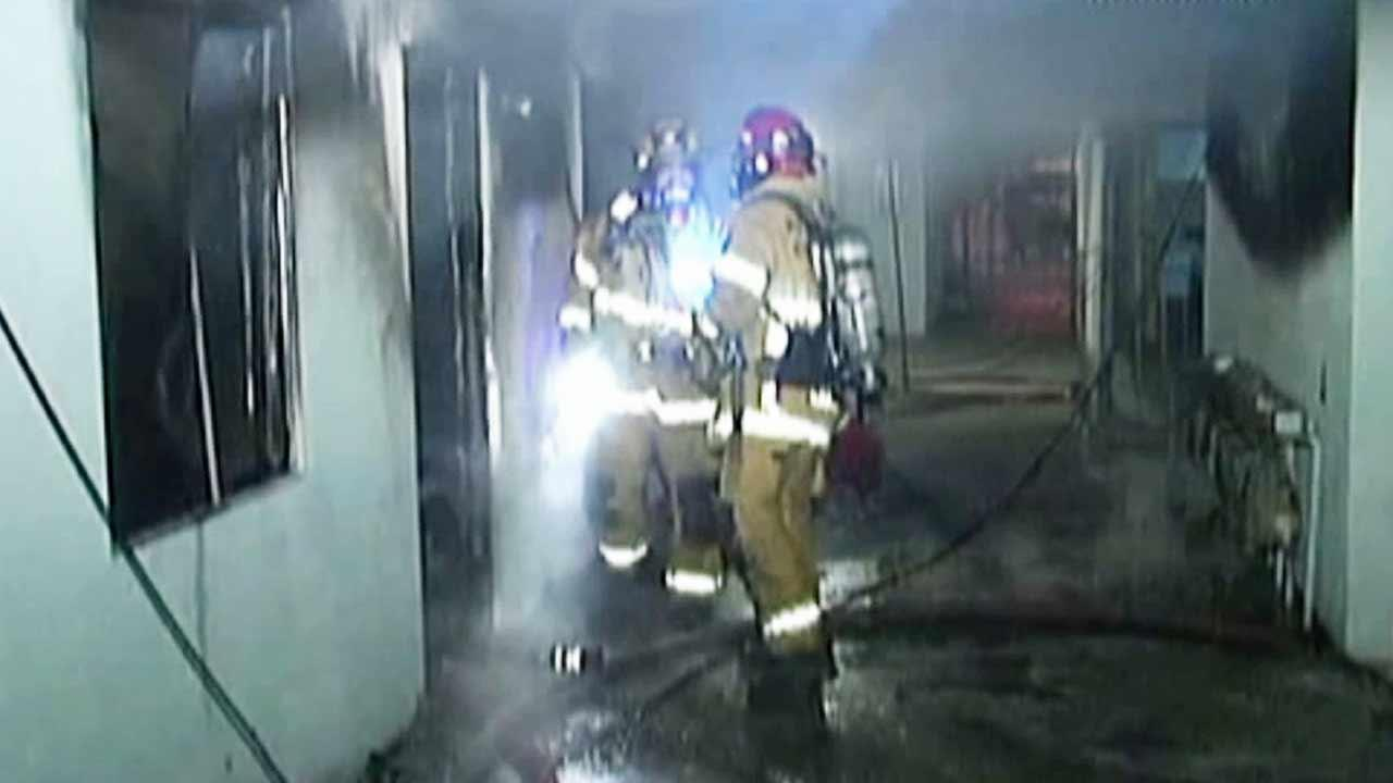 An apartment complex fire was reported just after midnight on the 5300 block of Olivewood Avenue in Riverside Tuesday.