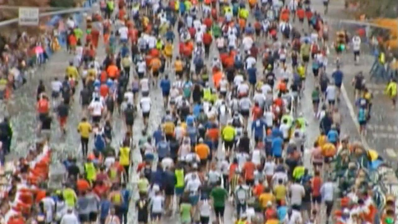Runners in the New York City Marathon are seen in this undated file photo.