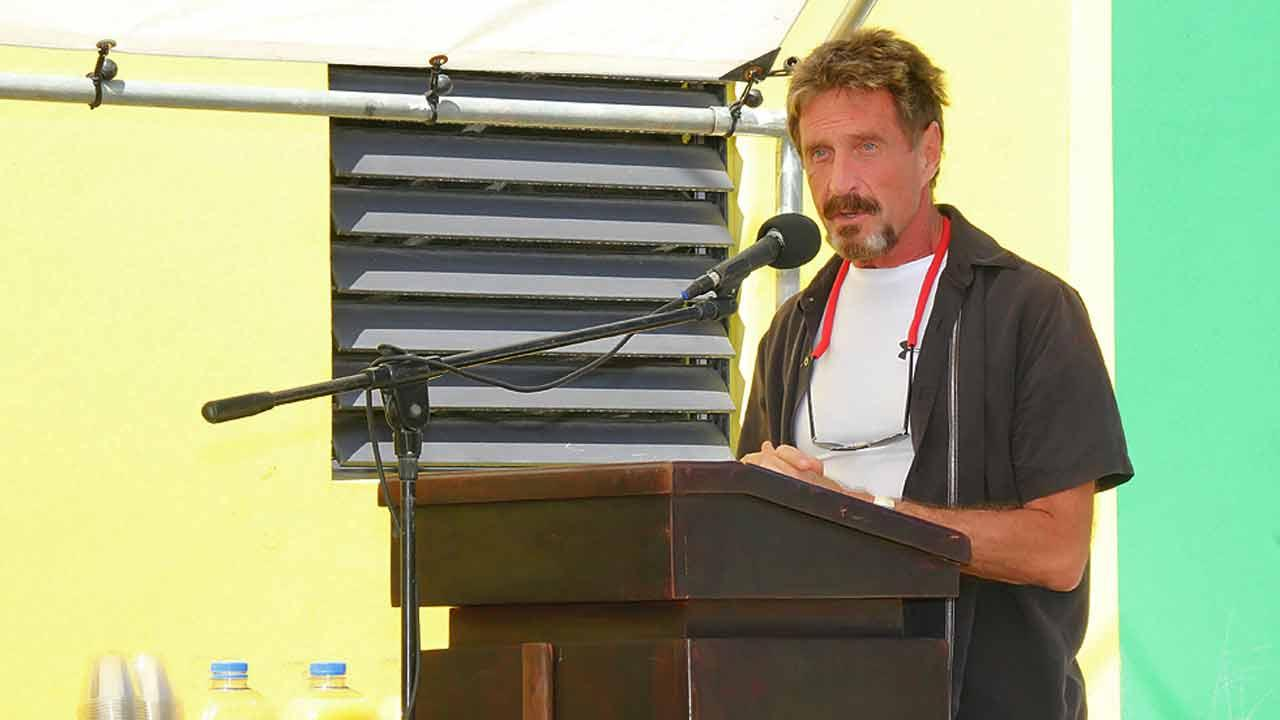 John McAfee in San Pedro, Belize, on November 9, 2012.