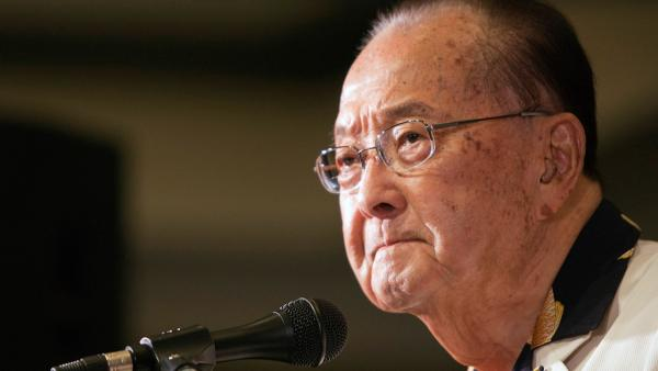 In this Nov. 6, 2012 file photo, U.S. Sen. Daniel Inouye speaks at the Japanese Cultural Center in Honolulu.