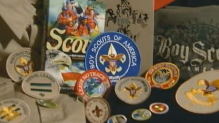 Boys Scouts of America paraphernalia, including a uniform, patches and a handbook, are seen in this undated file photo.