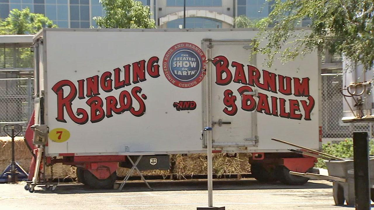 A Ringling Bros. trailer is shown in this undated file photo.