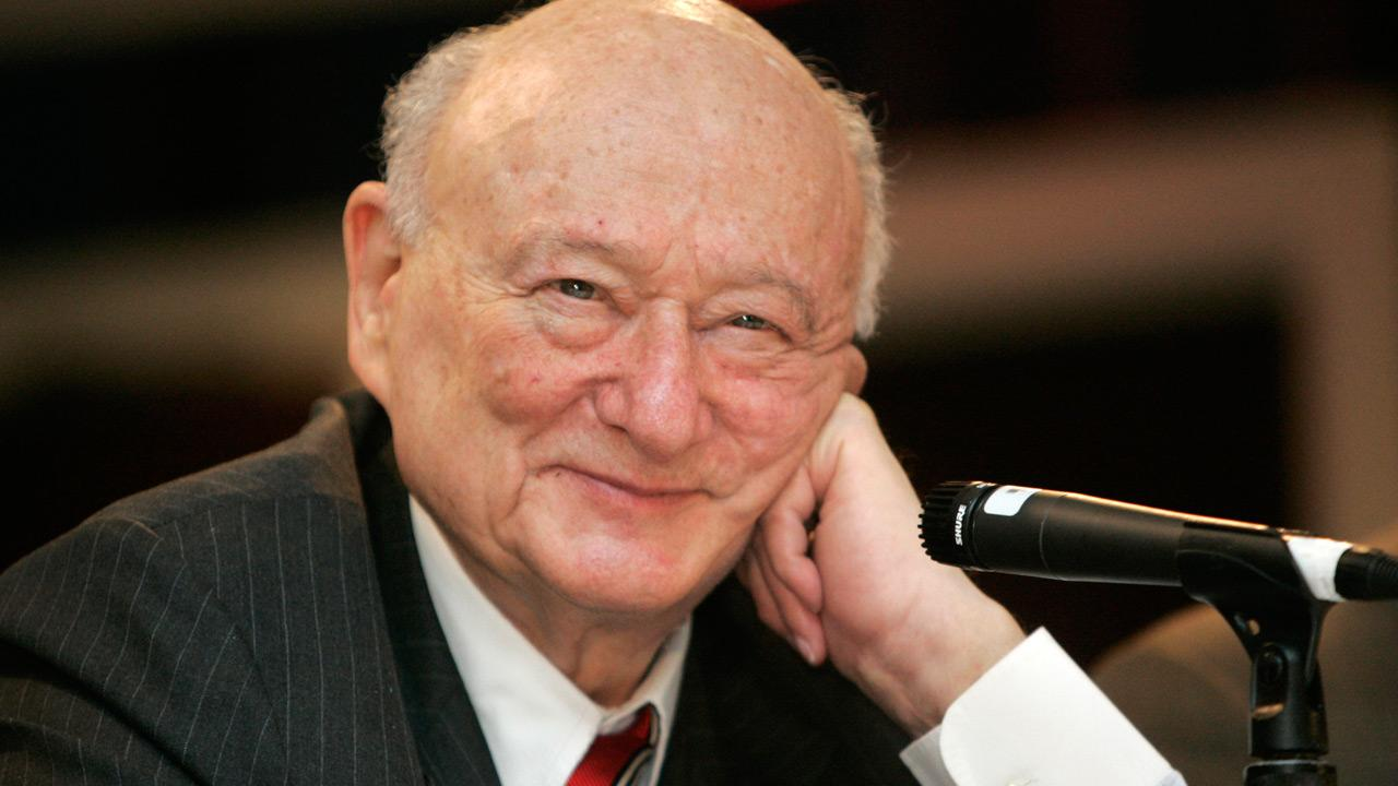 In this April 18, 2007, file photo, former New York Mayor Ed Koch listens during the 9th annual National Action Network convention in New York.Frank Franklin II, File