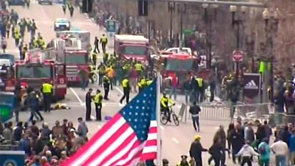 Two bombs exploded near the finish of the Boston Marathon on Monday, killing two people and injuring at least 99 others.