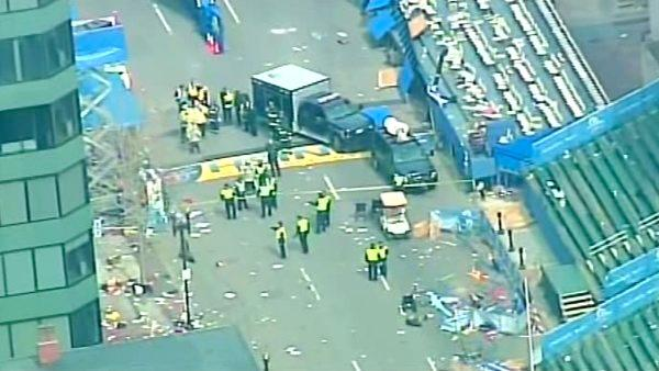 Two bombs exploded near the finish of the Boston Marathon on Monday, killing three people and