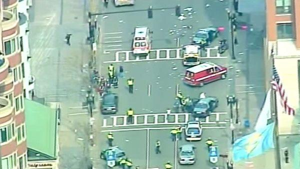 Two bombs exploded near the finish of the Boston Marathon on Monday, killing three people and injuring at least 130 others.