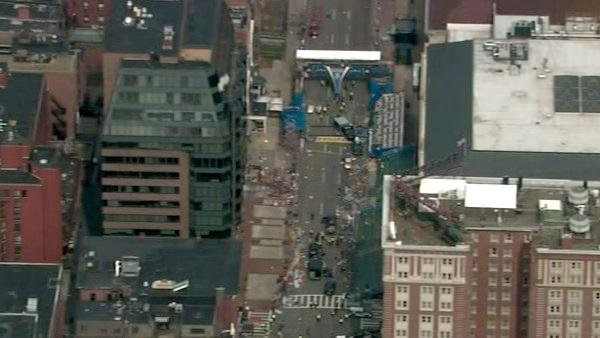 Two bombs exploded near the finish of the Boston Marathon on Monday, killing three people and injuring at least 13