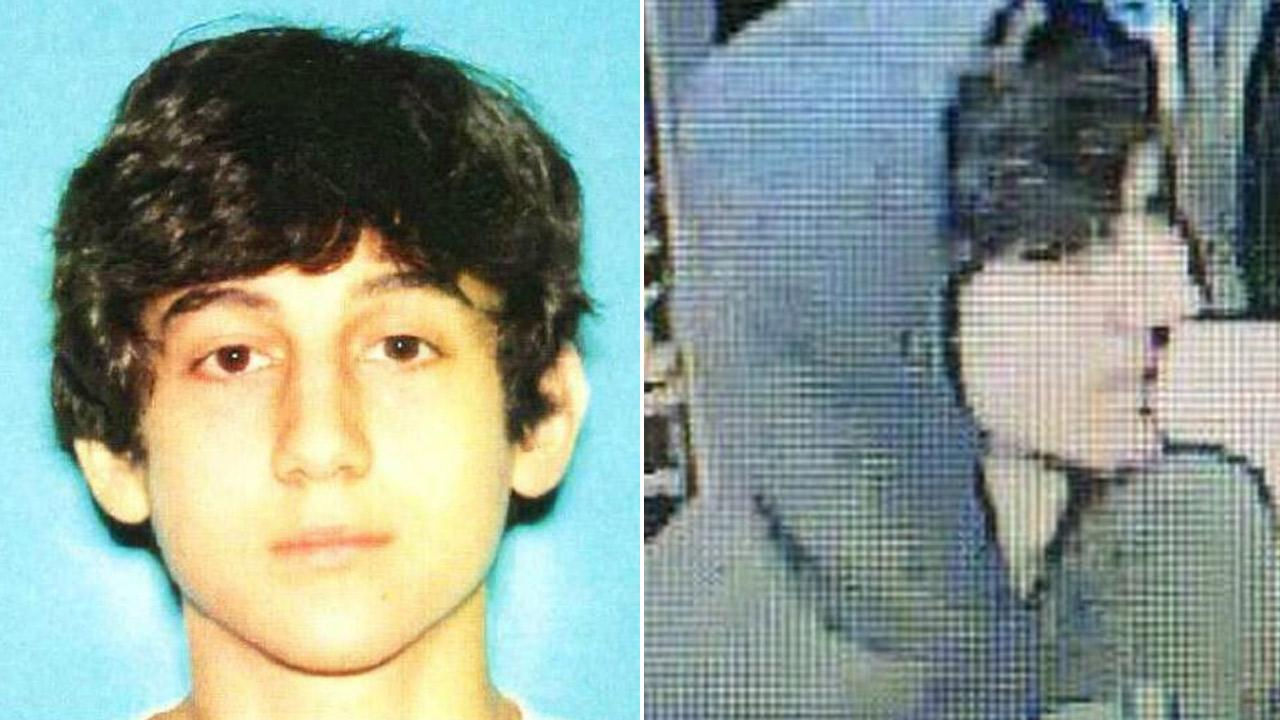 Boston police released these photos of a suspect believed to be connected to the Boston Marathon bombings. He was later identified as 19-year-old Dzhokhar Tsarnaev of Cambridge, Mass.
