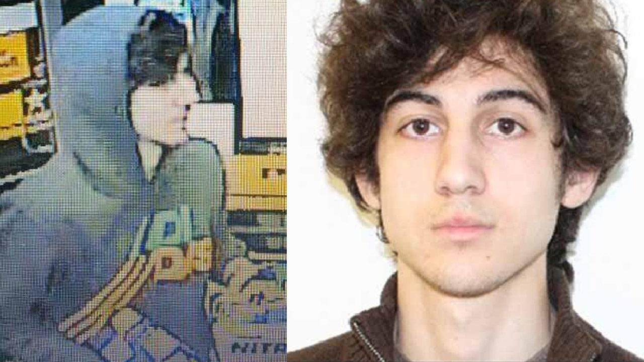 Investigators released these photos of a suspect believed to be connected to the Boston Marathon bombings. He was later identified as 19-year-old Dzhokhar Tsarnaev of Cambridge, Mass.