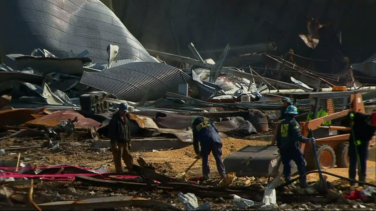 ATF investigators search through the rubble of a fertilizer plant explosion in West, Texas.