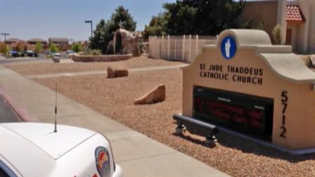A stabbing occurred at St. Jude Thaddeus Catholic Church in Albuquerque, N.M., on Sunday, April 28, 2013.