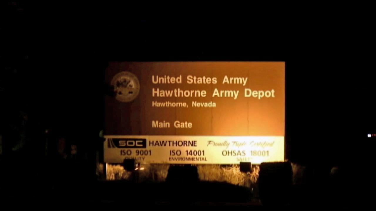 The Hawthorne Army Depot in Hawthorne, Nev.