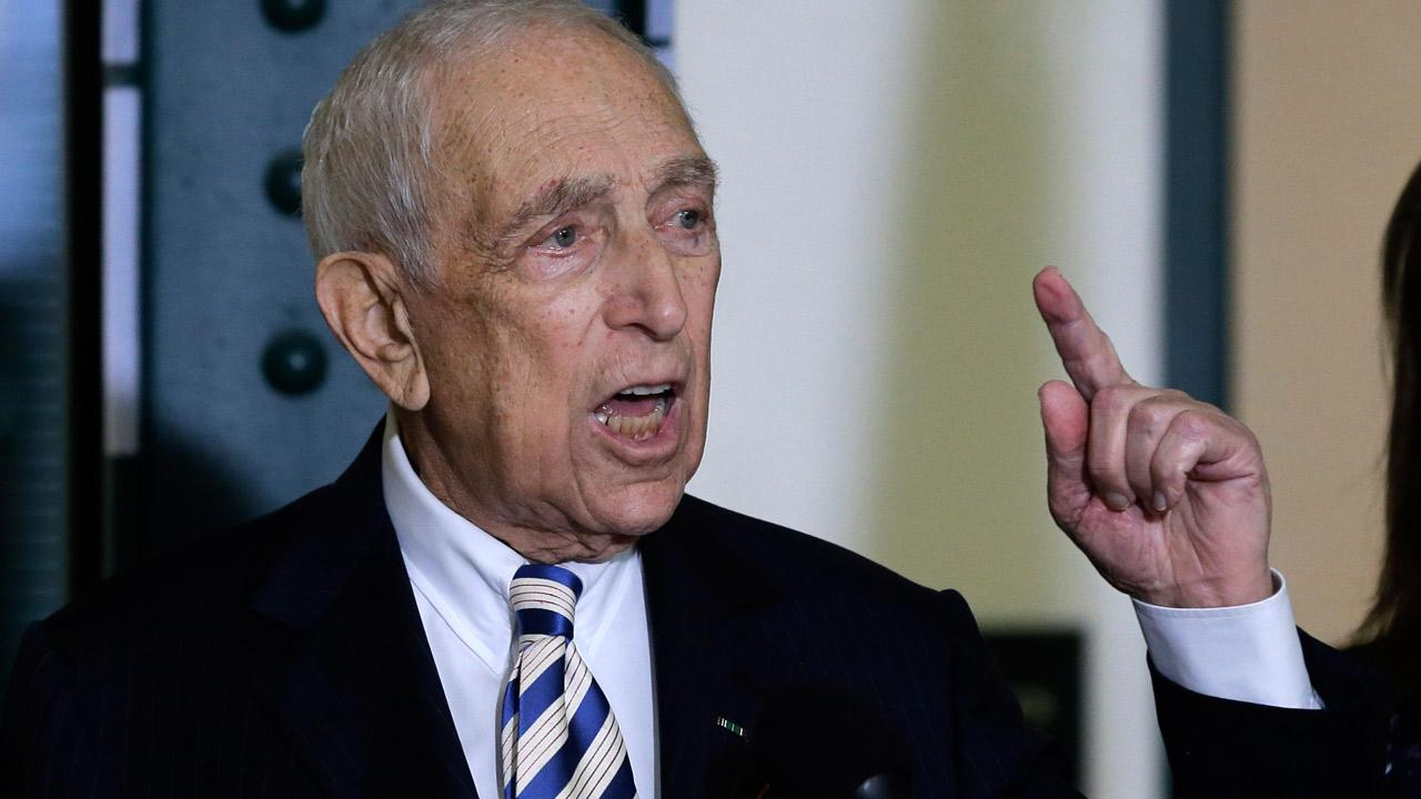 Sen. Frank Lautenberg, the oldest member of the U.S. Senate, tells a gathering Friday, Feb. 15, 2013, in his hometown of Paterson, N.J., that he plans to retire at the end of his current term.Mel Evans